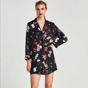 Zara floral print dress NWT sz L